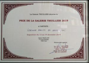PRIX GALERIE THULLIER 2019