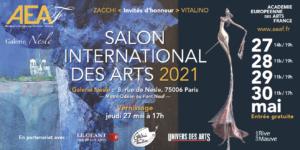 INVITATION SALON AEAF GALERIE DE NESLE MAI 2021